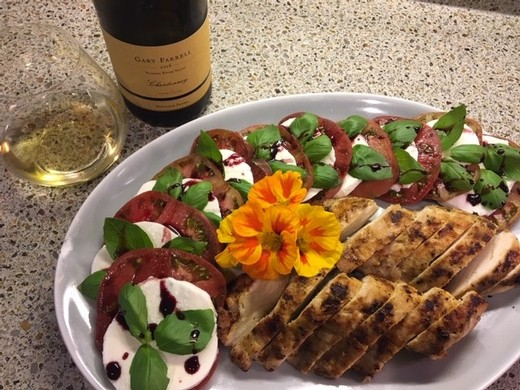Caprese Salad with Grilled Turkey - Alyson White