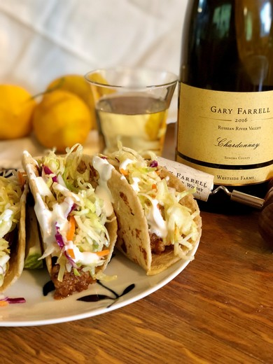 Pork Tacos with Lime Crema and Homemade Slaw - by Brian Shapiro